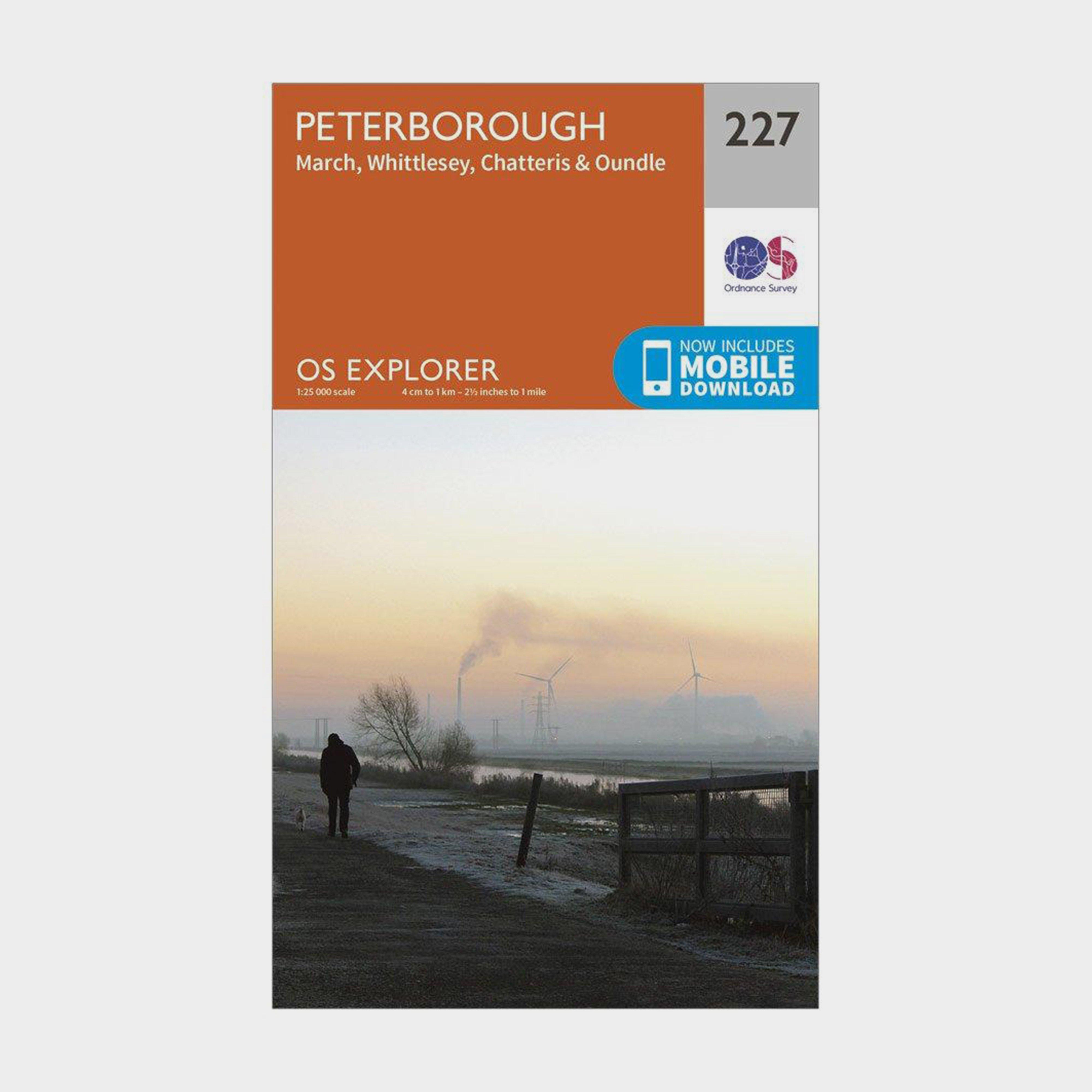 Ordnance Survey Explorer 227 Peterborough Map With Digital Version - D/d  D/d