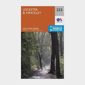 ORDNANCE SURVEY Explorer 233 Leicester & Hinckley Map With Digital Version