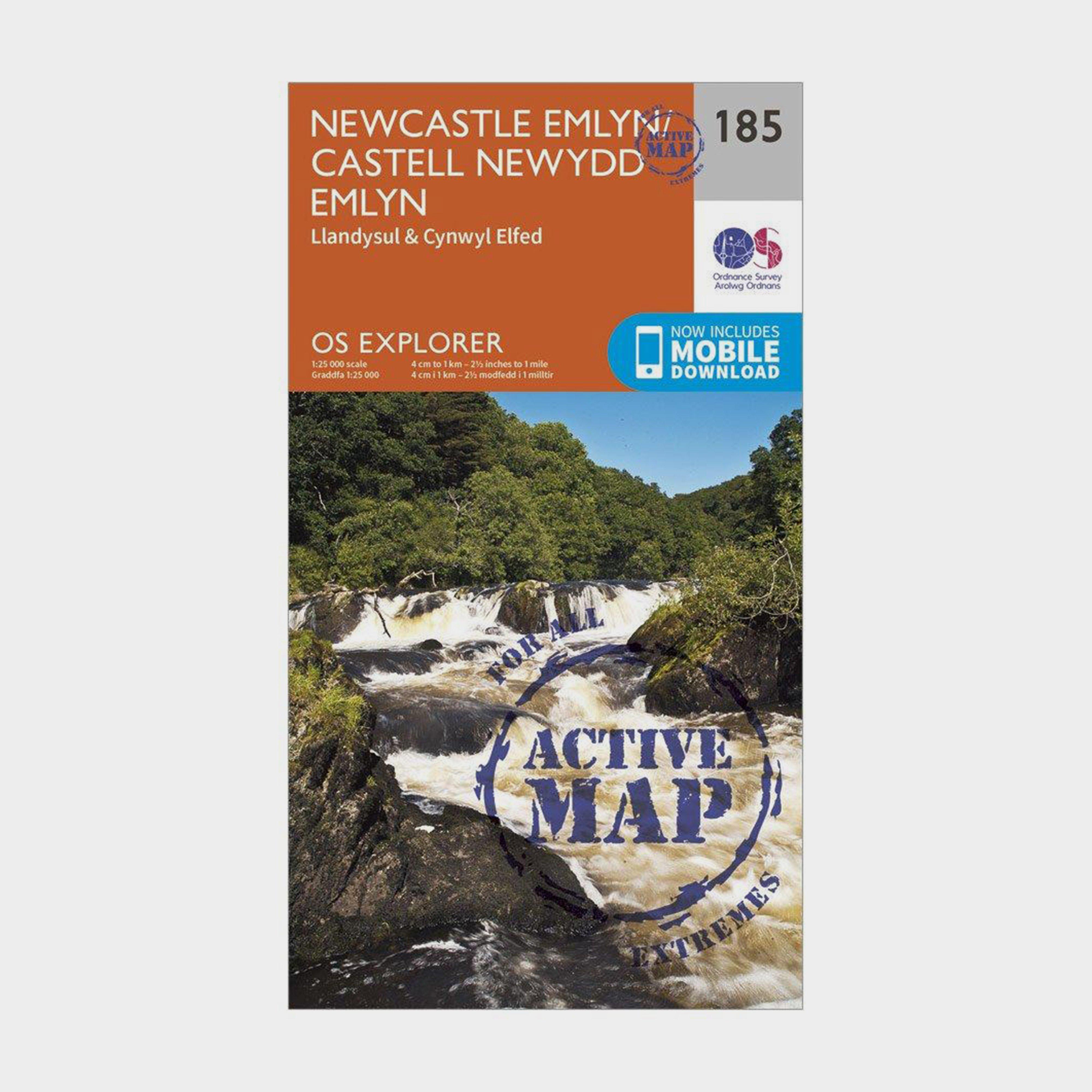 Ordnance Survey Explorer Active 185 Newcastle Emlyn  LlandysulandCynwyl Elfed Map With Digital Version - Orange/d  Orange/d
