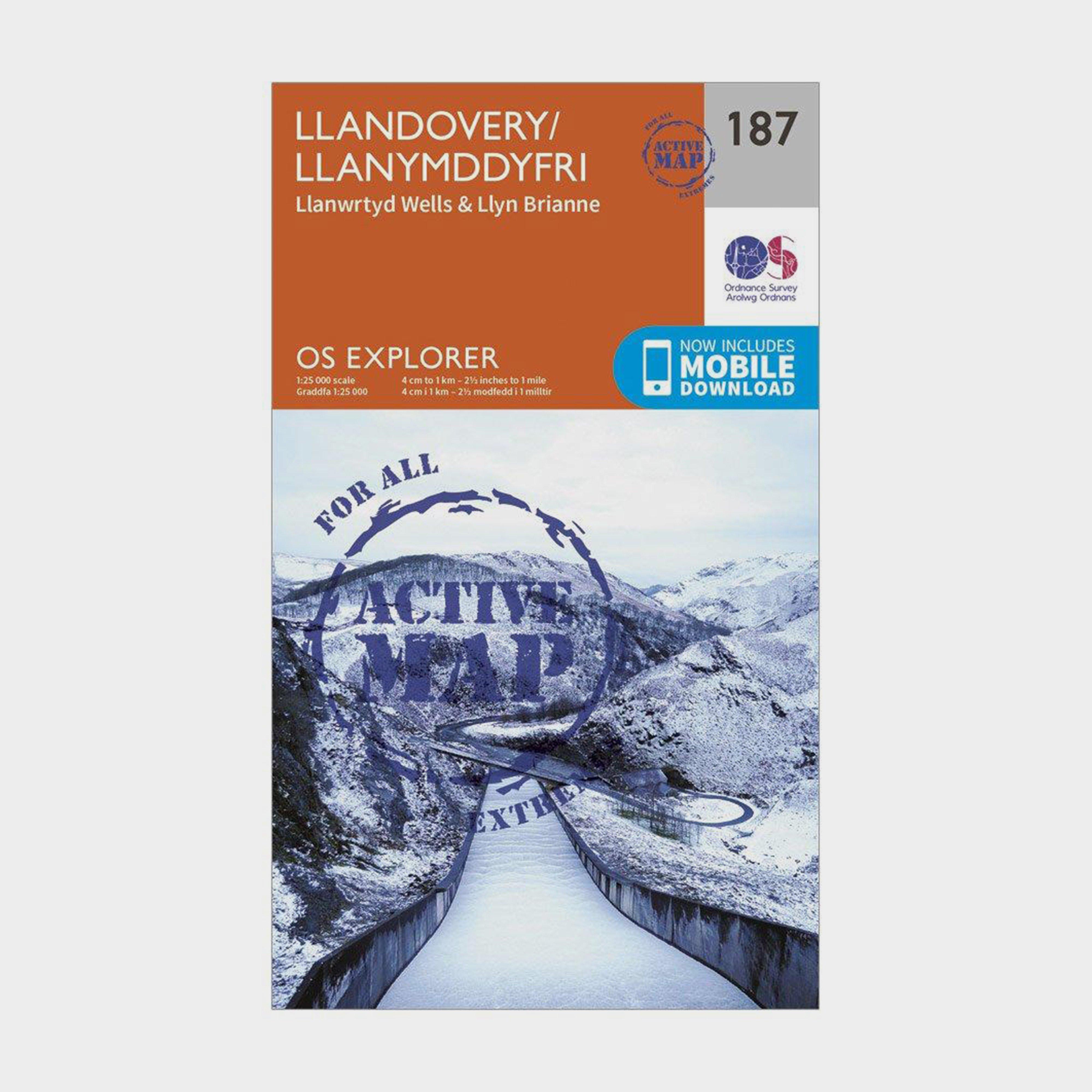 Ordnance Survey Explorer Active 187 Llandovery  Llanwrtyd WellsandLyn Brianne Map With Digital Version - Orange/d  Orange/d