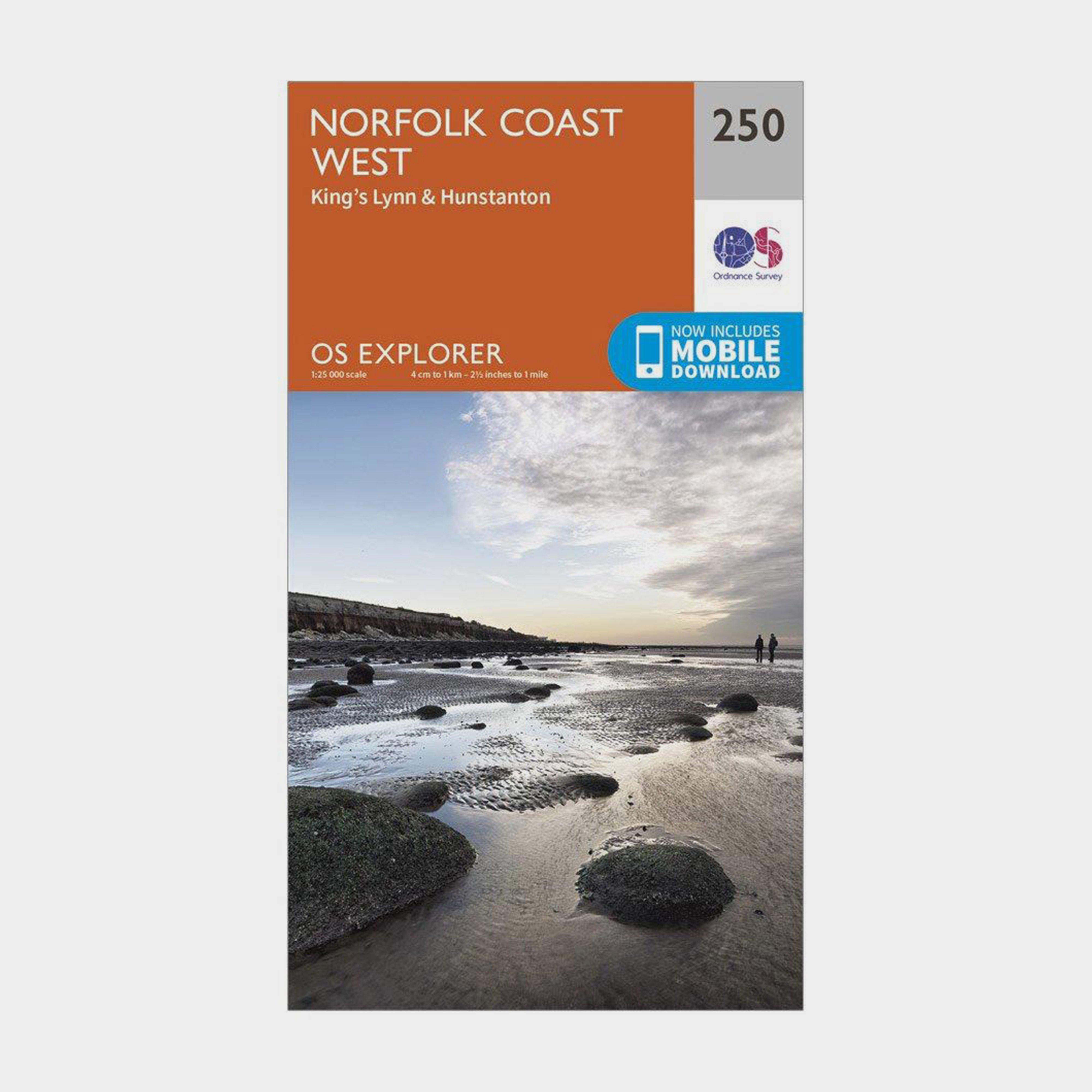 Ordnance Survey Explorer 250 Norfolk Coast West Map With Digital Version - D/d  D/d