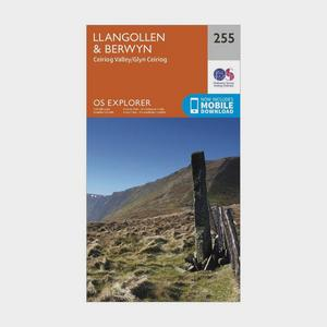 ORDNANCE SURVEY Explorer 255 Llangollen & Berwyn Map With Digital Version