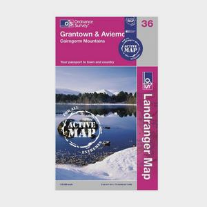 ORDNANCE SURVEY Landranger Active 36 Grantown and Aviemore Map