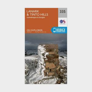 ORDNANCE SURVEY Explorer 335 Lanark & Tinto Hills Map With Digital Version
