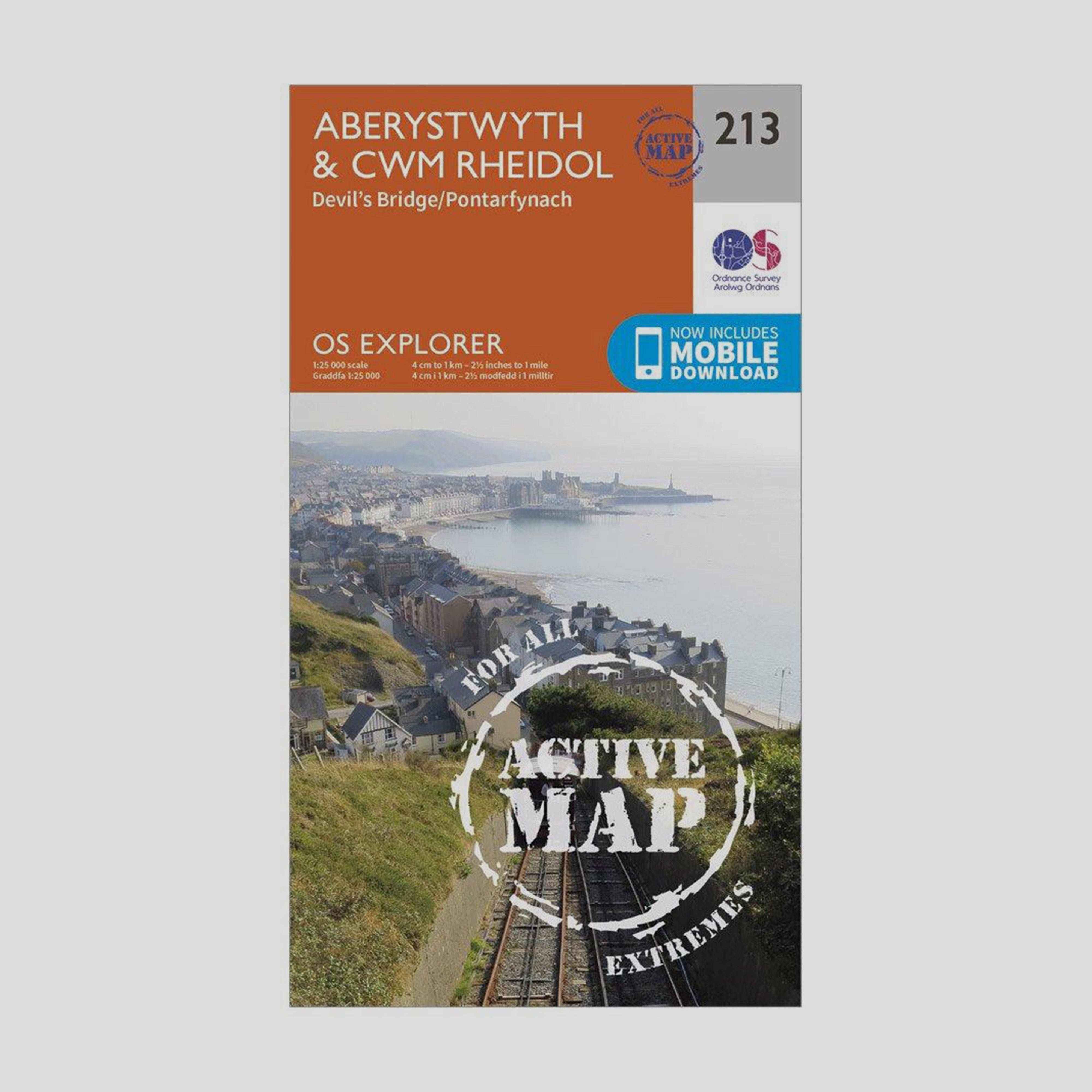 Ordnance Survey Explorer Active 213 AberystwythandCwn Rheidol Map With Digital Version - D/d  D/d