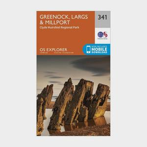 ORDNANCE SURVEY Explorer 341 Greenoch, Largs & Millport Map With Digital Version