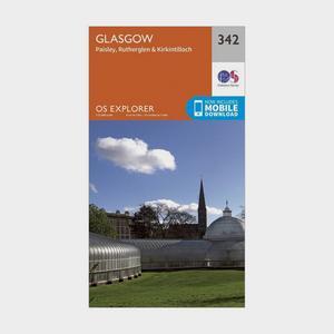 ORDNANCE SURVEY Explorer 342 Glasgow Map With Digital Version
