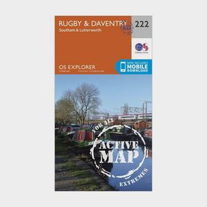 ORDNANCE SURVEY Explorer Active 222 Rugby & Daventry Map With Digital Version