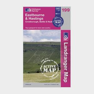 ORDNANCE SURVEY Active Landranger 199 Eastbourne & Hastings Map