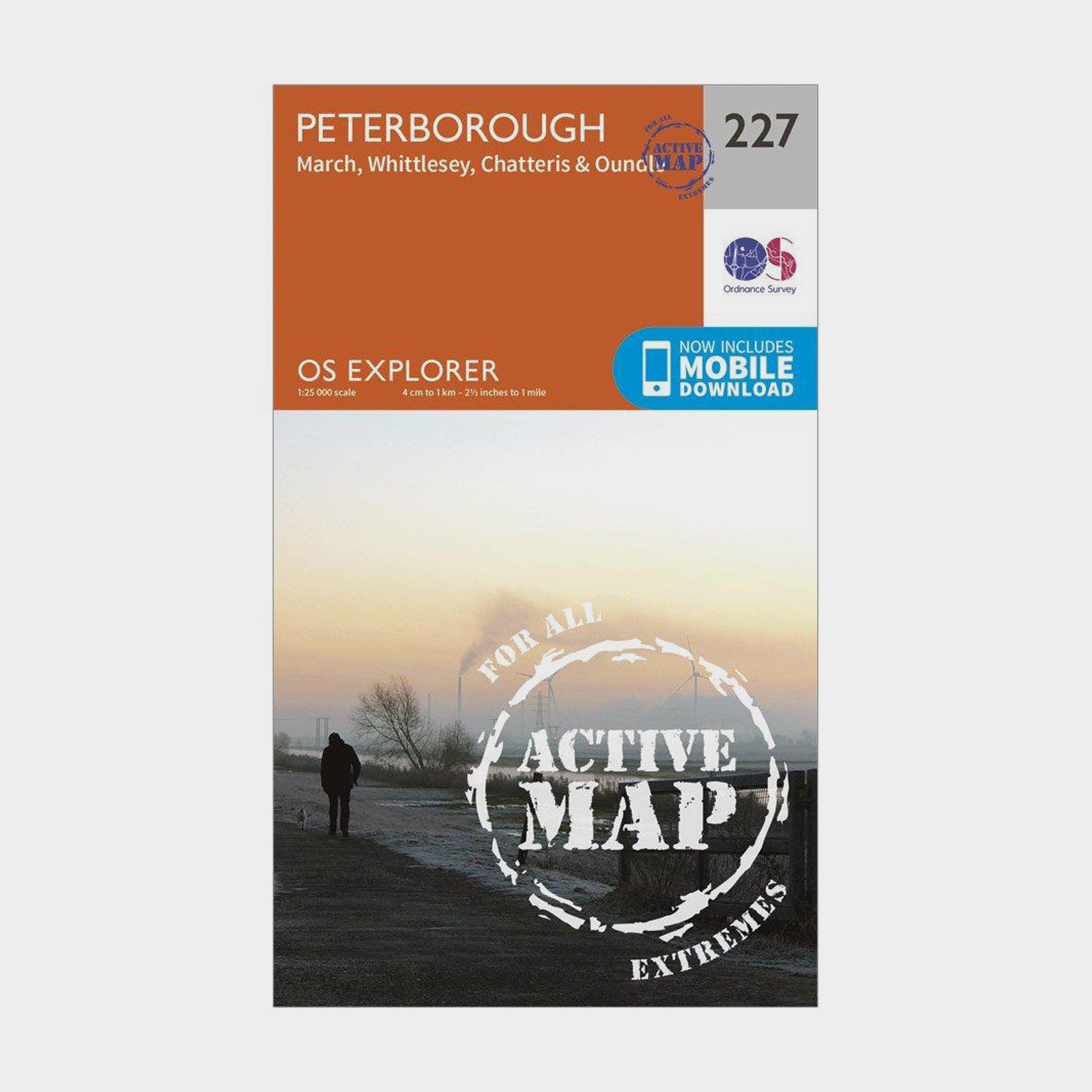 Ordnance Survey Explorer Active 227 Peterborough Map With Digital Version - Orange/d  Orange/d