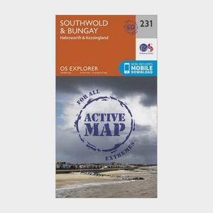 ORDNANCE SURVEY Explorer Active 231 Southwold & Bungay Map With Digital Version