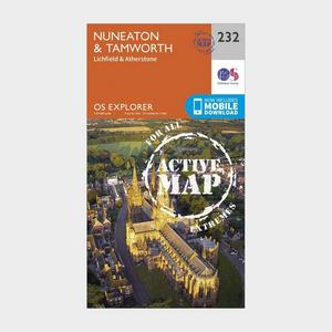 ORDNANCE SURVEY Explorer Active 232 Nuneaton & Tamworth Map With Digital Version