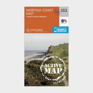 ORDNANCE SURVEY Explorer Active 252 Norfolk Coast East Map With Digital Version