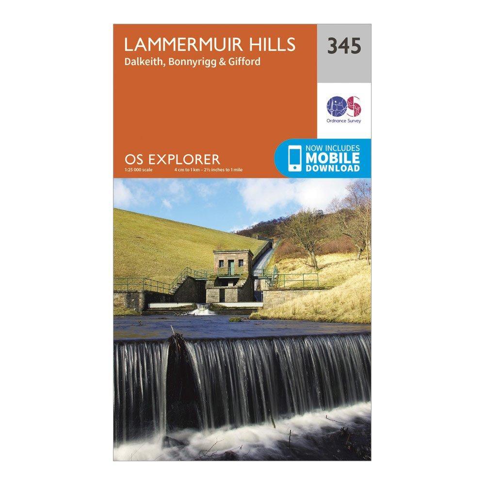 Ordnance Survey Explorer 345 Lammermuir Hills Map With Digital Version - Orange/d  Orange/d