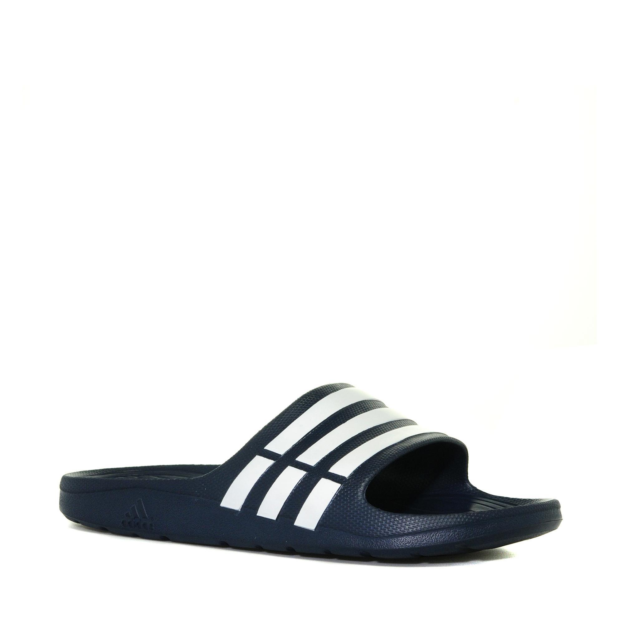 Adidas Mens Duramo Flip Flops Navy