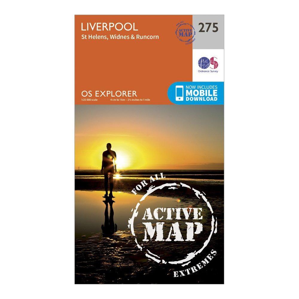 Ordnance Survey Explorer Active 275 Liverpool  St Helens  WidnesandRuncorn Map With Digital Version - Orange/d  Orange/d