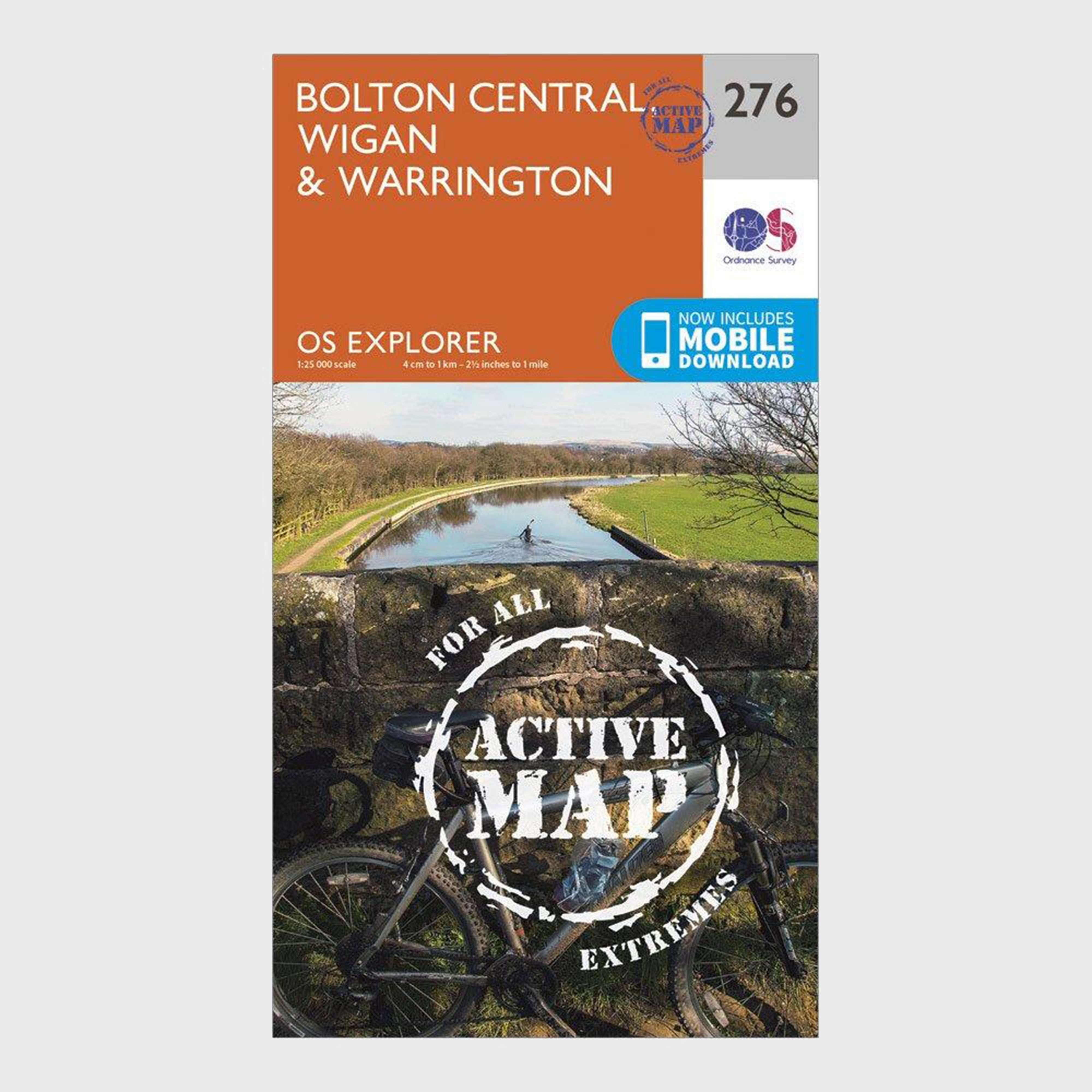 ORDNANCE SURVEY Explorer Active 276 Bolton, Wigan & Warrington Map With Digital Version