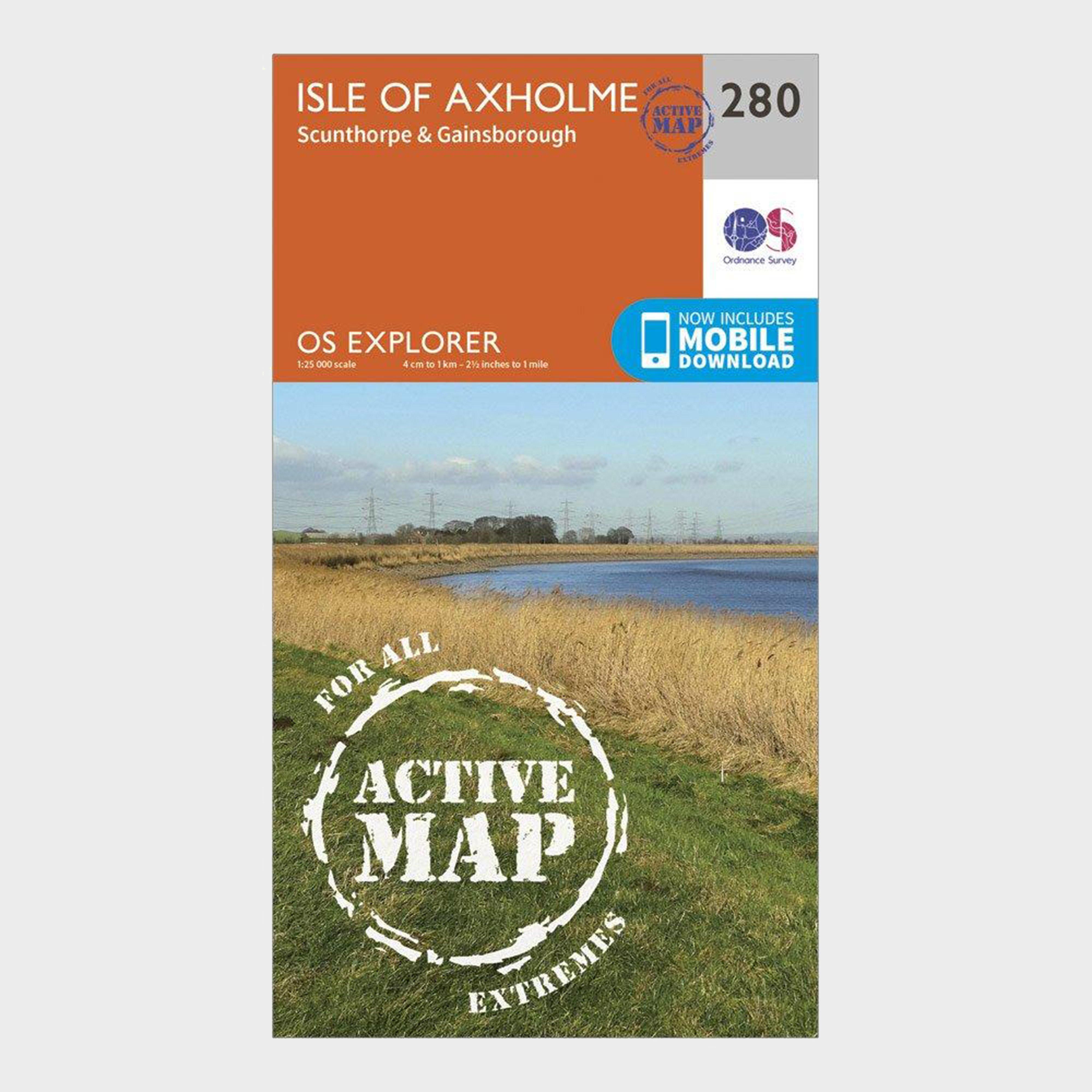 Ordnance Survey Explorer Active 280 Isle Of Axholme  ScunthorpeandGainsborough Map With Digital Version - Orange/d  Orange/d