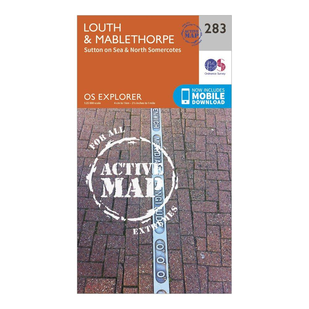 Ordnance Survey Explorer Active 283 LouthandMablethorpe Map With Digital Version - D/d  D/d