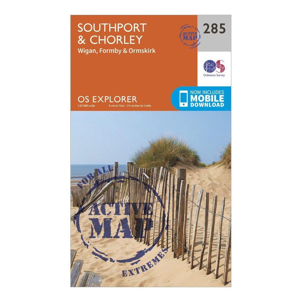 Ordnance Survey Explorer Active 285 SouthportandChorley Map With Digital Version - Orange/d  Orange/d