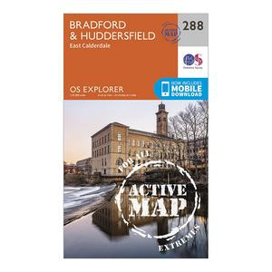 ORDNANCE SURVEY Explorer Active 288 Bradford & Huddersfield Map With Digital Version