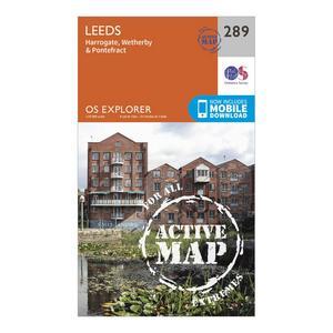 ORDNANCE SURVEY Explorer Active 289 Leeds Map With Digital Version