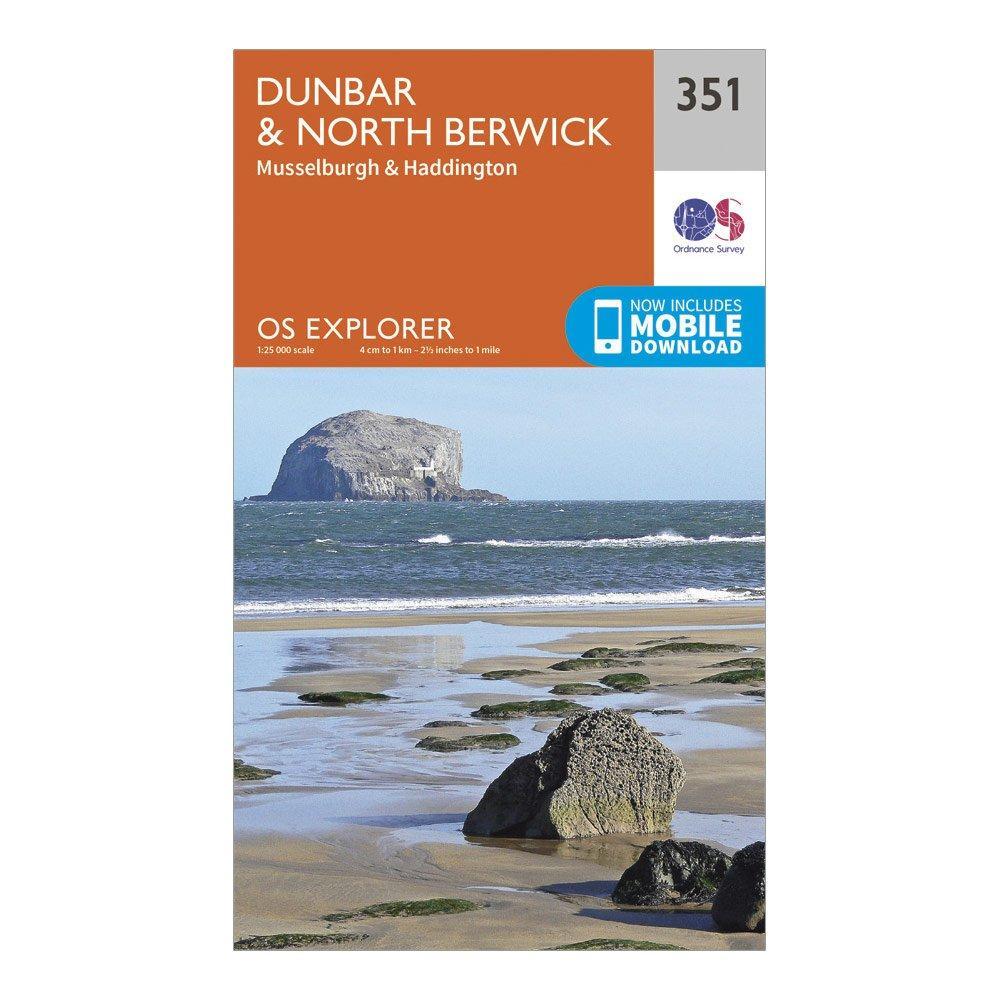 Ordnance Survey Explorer 351 DunbarandNorth Berwick Map With Digital Version - Orange/d  Orange/d