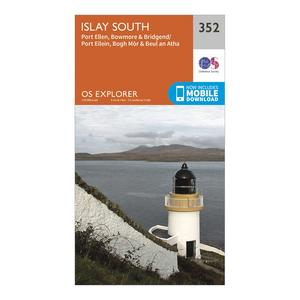 ORDNANCE SURVEY Explorer 352 Islay South Map With Digital Version