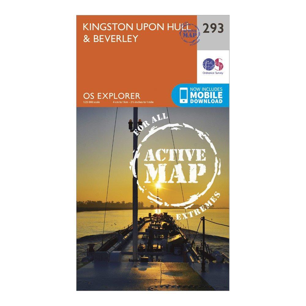 Ordnance Survey Explorer Active 293 Kingston Upon HillandBeverley Map With Digital Version - Orange/d  Orange/d