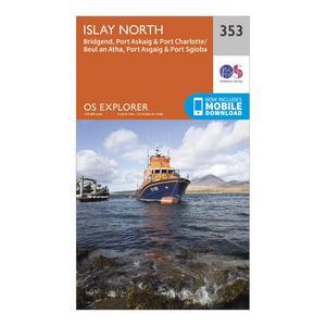ORDNANCE SURVEY Explorer 353 Islay North Map With Digital Version