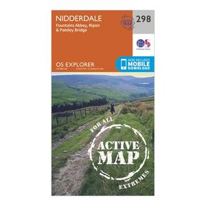ORDNANCE SURVEY Explorer Active 298 Nidderdale Map With Digital Version