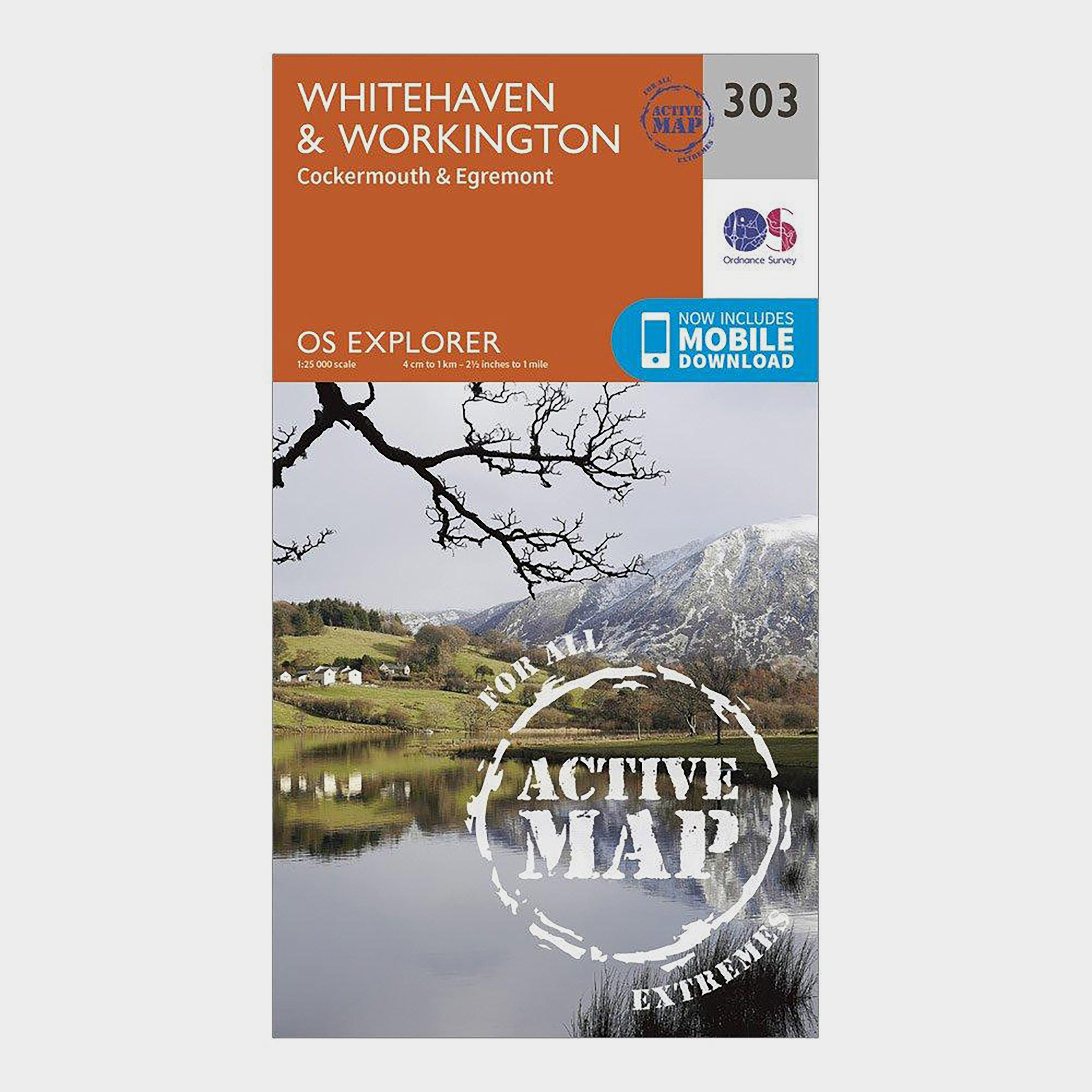 Ordnance Survey Explorer Active 303 Whitehaven & Workington Map With Digital Version - D/D, D/D