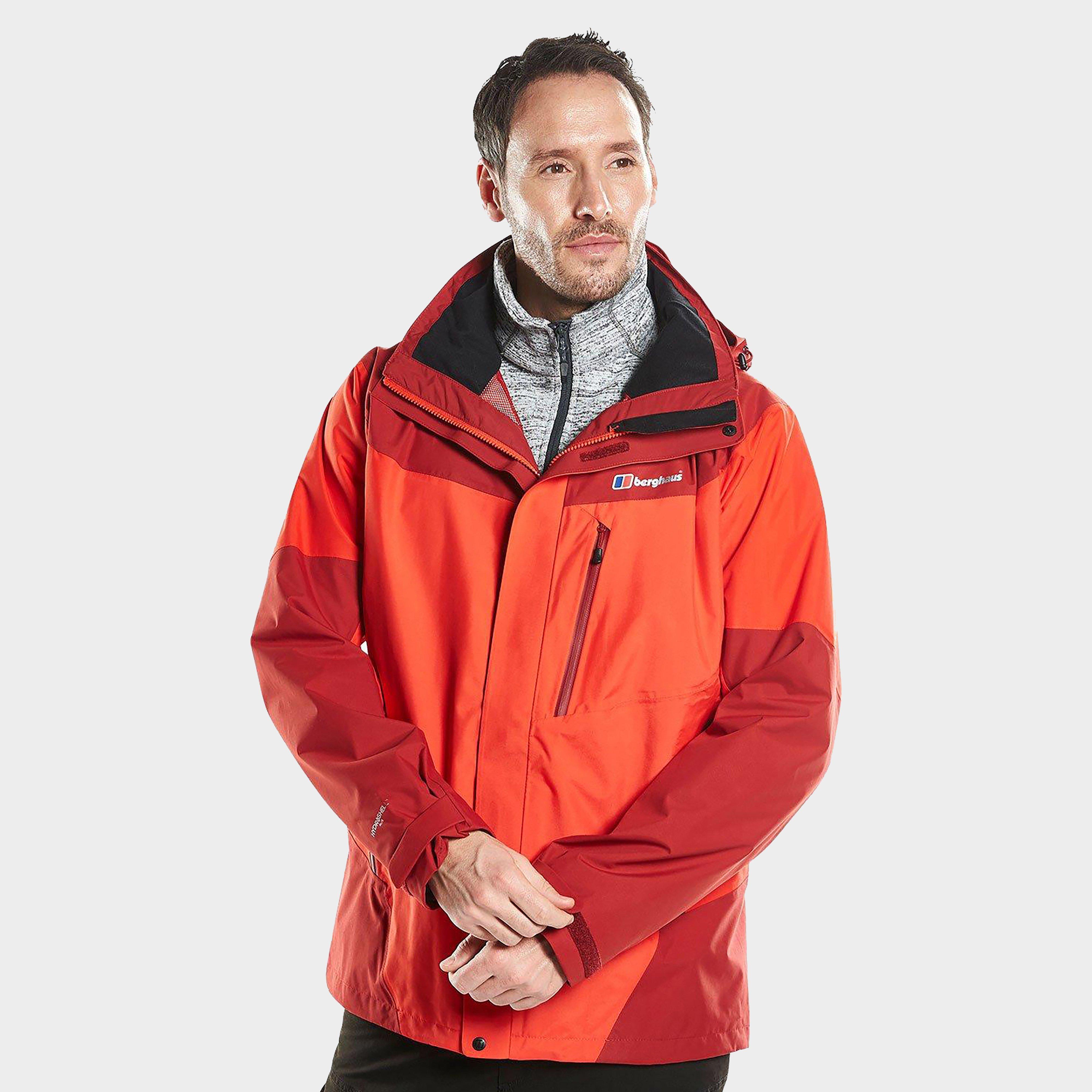 Berghaus Mens Arran Waterproof Jacket - Red/red  Red/red
