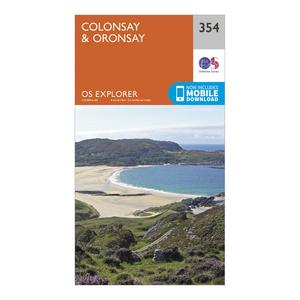 ORDNANCE SURVEY Explorer 354 Colonsay & Oronsay Map With Digital Version