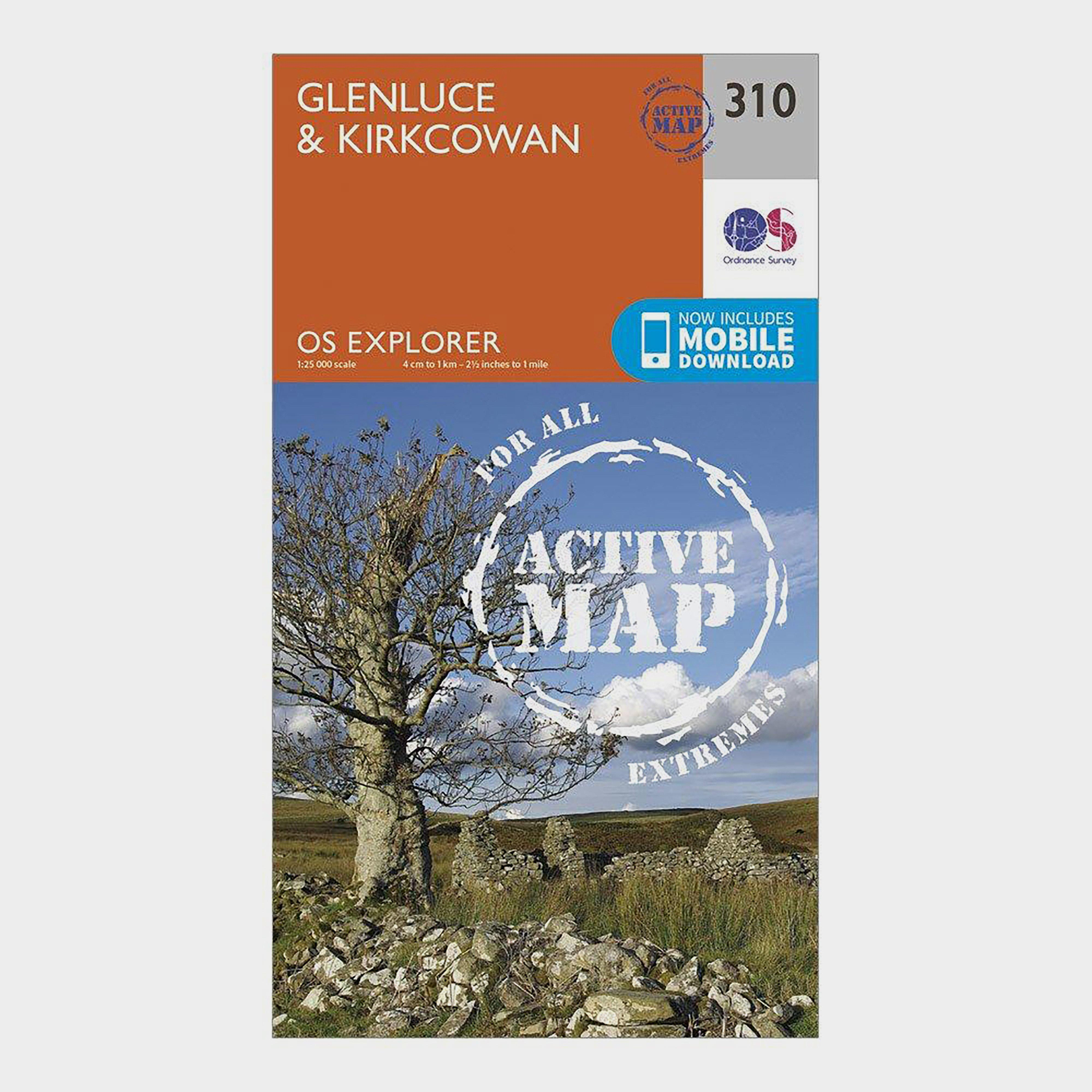 Ordnance Survey Explorer Active 310 Glenluce & Kirkcowan Map With Digital Version - Orange/D, Orange/D