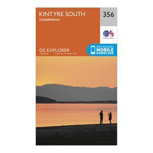 ORDNANCE SURVEY Explorer 256 Kintyre South Campeltown Map With Digital Version