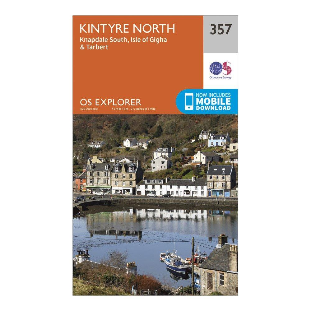 Ordnance Survey Explorer 357 Kintyre North Map With Digital Version - Orange/d  Orange/d