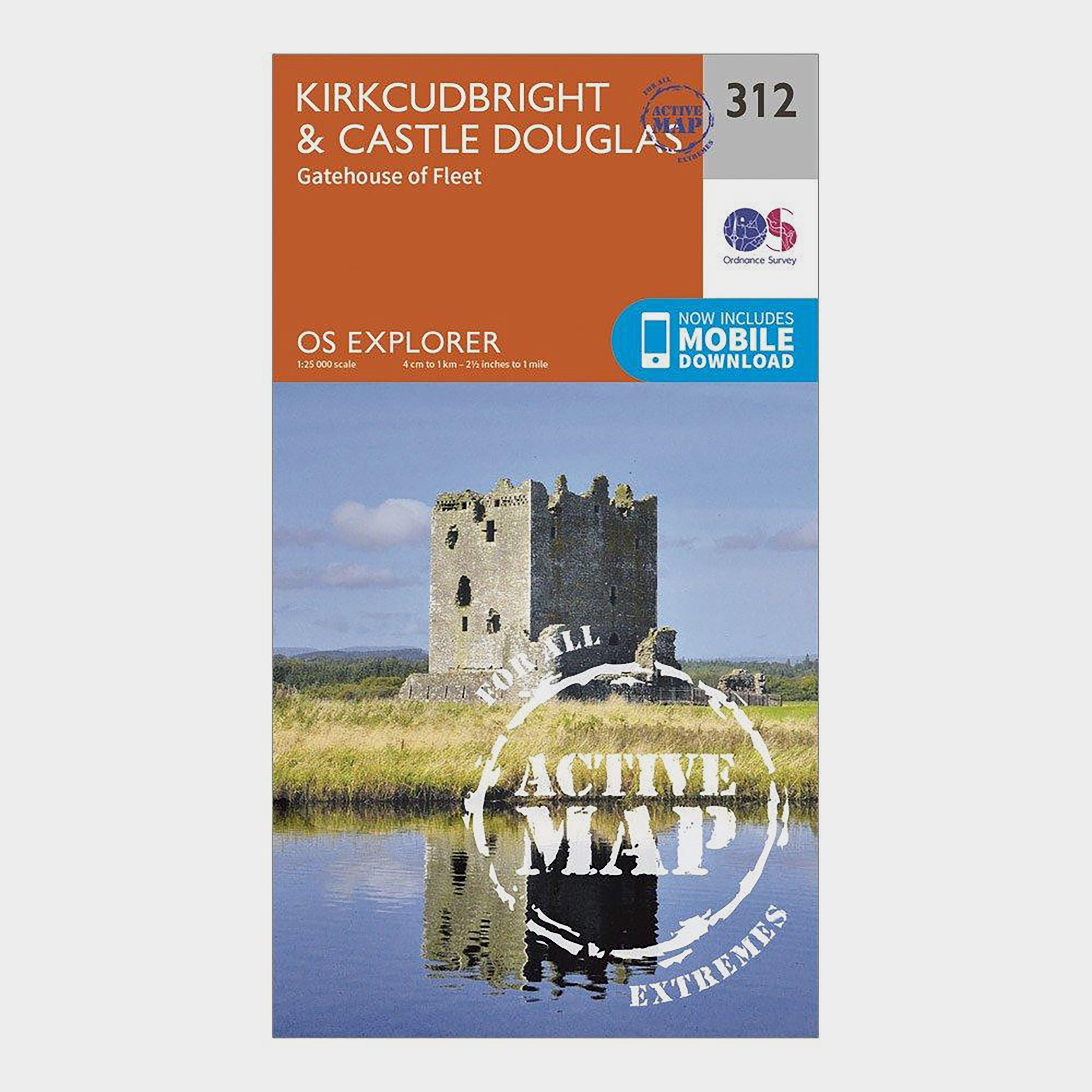 Ordnance Survey Explorer Active 312 Kirkcudbright & Castle Douglas Map With Digital Version - Orange/D, Orange/D