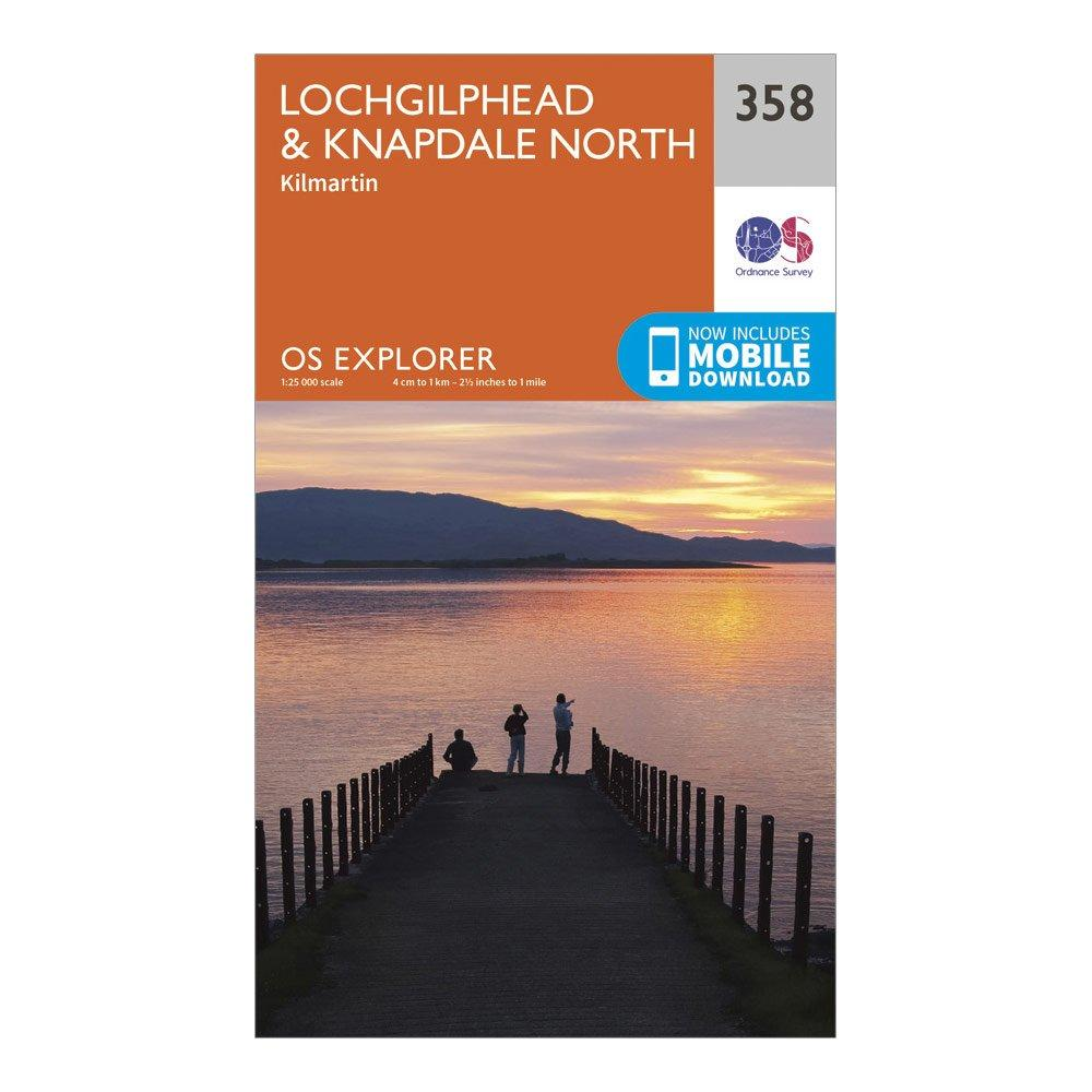 Ordnance Survey Explorer 358 LochgilpheadandKnapdale North Map With Digital Version - Orange/d  Orange/d