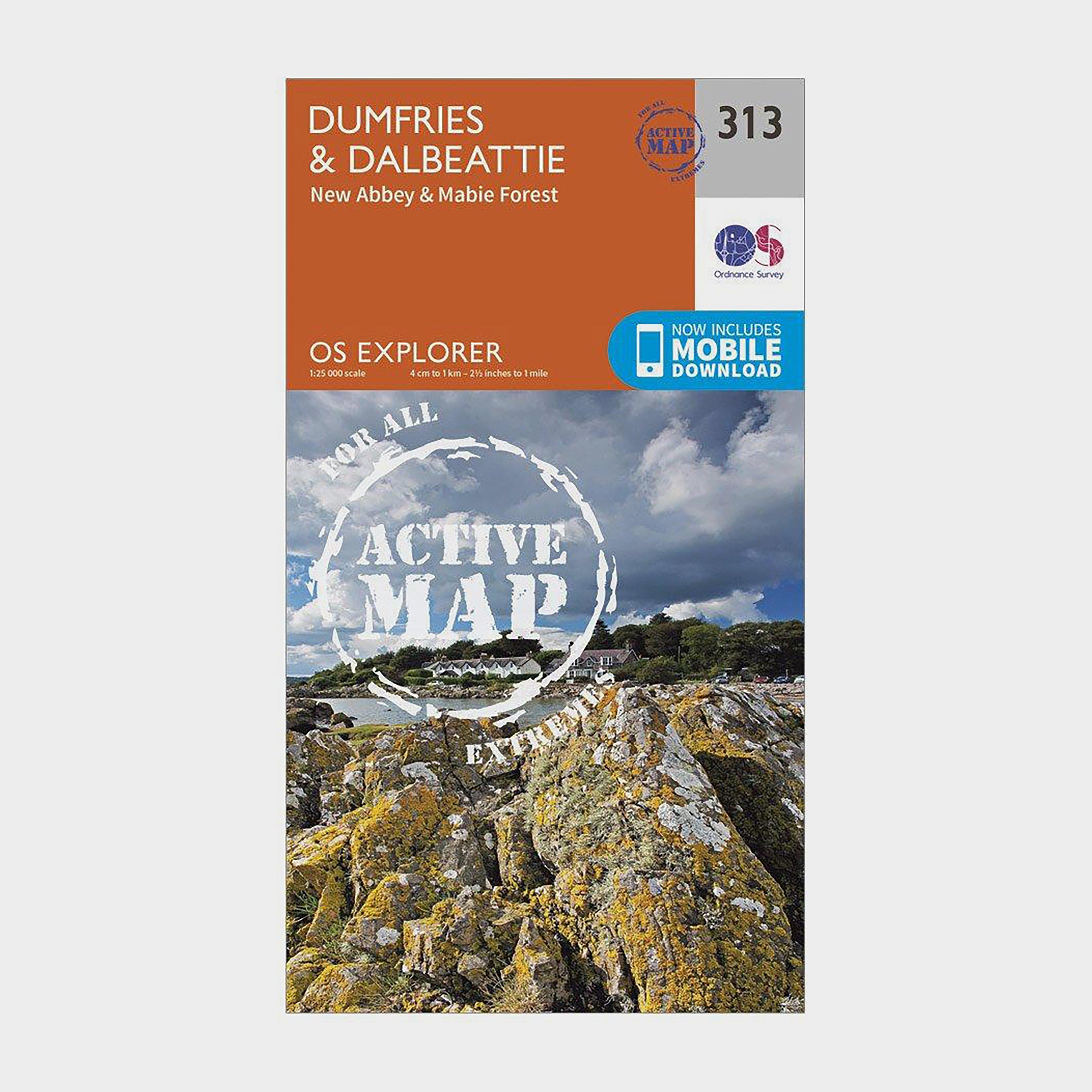 Ordnance Survey Explorer Active 313 Dumfries & Dalbeattie Map With Digital Version - Orange/D, Orange/D