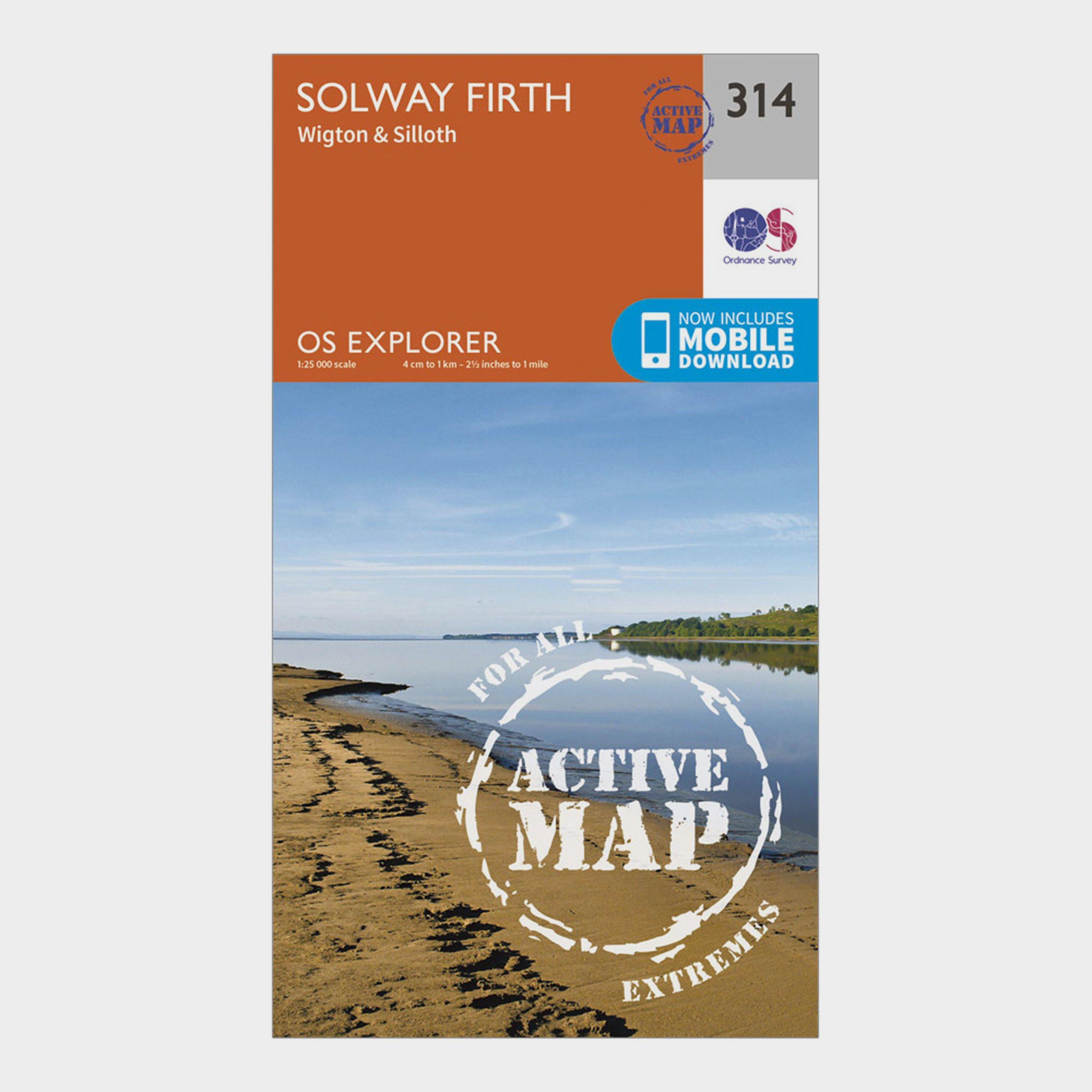 Ordnance Survey Explorer Active 314 Solway Firth Map With Digital Version - D/D, D/D