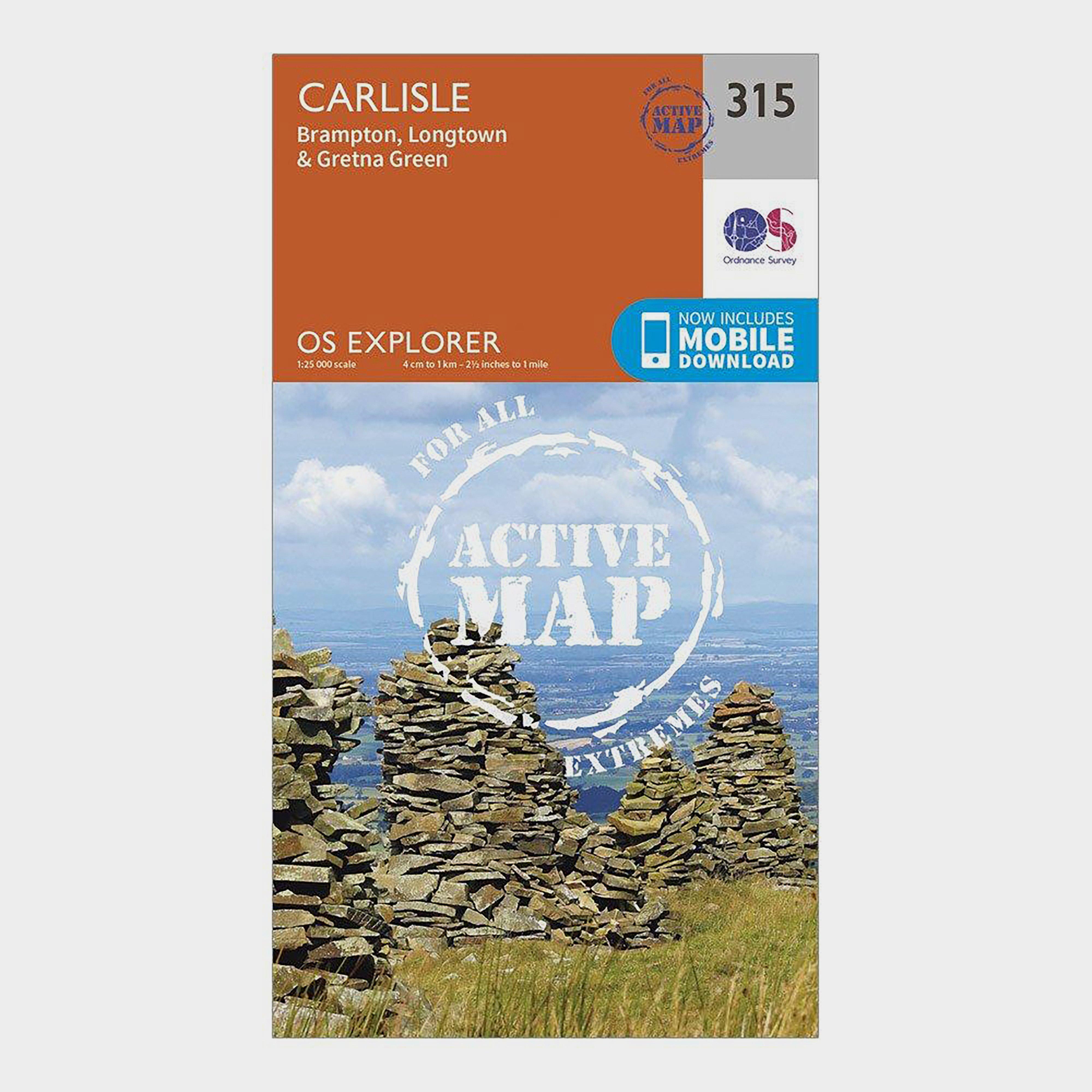 Ordnance Survey Explorer Active 315 Carlisle Map With Digital Version - Orange/d  Orange/d