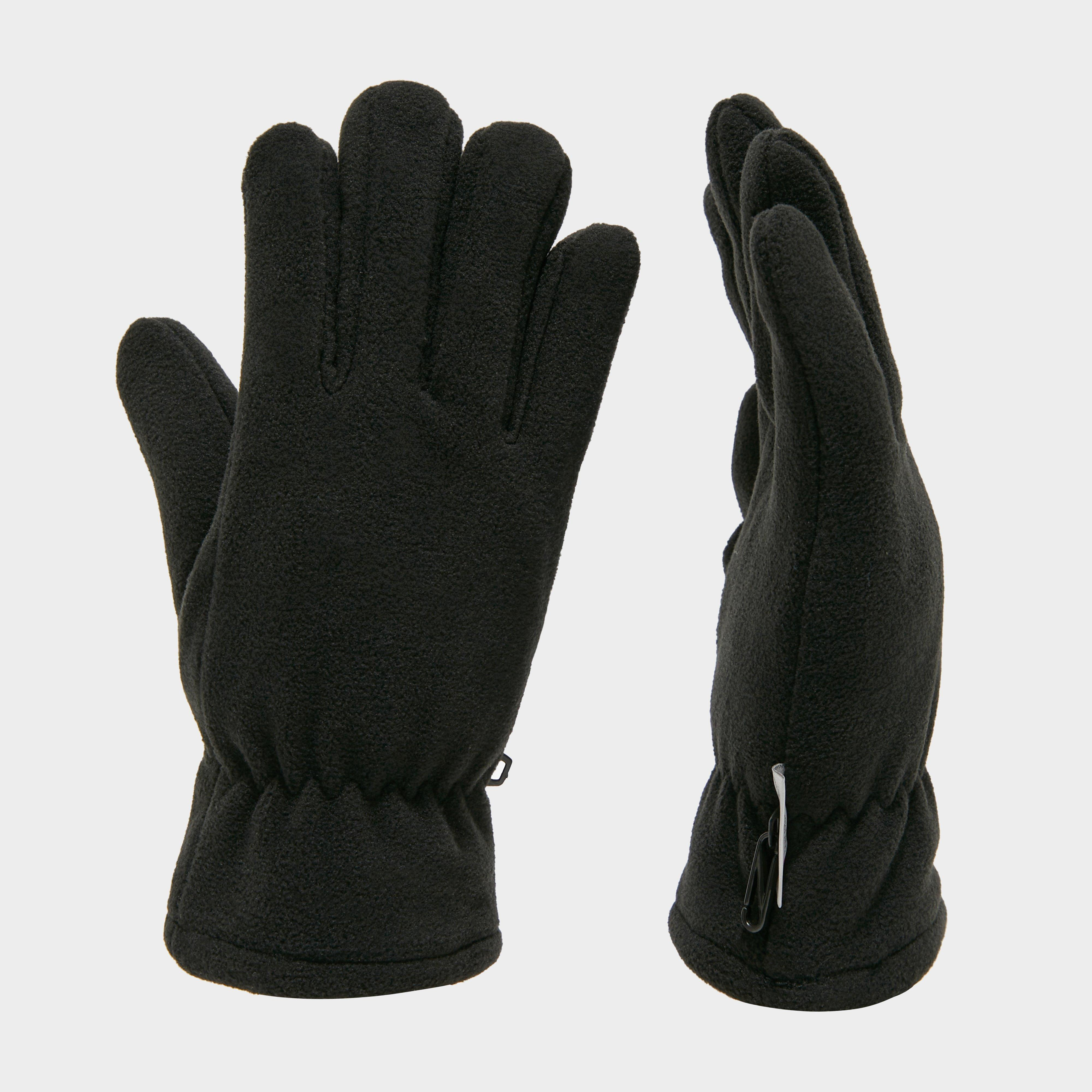 Peter Storm Thinsulate Double Fleece Gloves - Black, Black