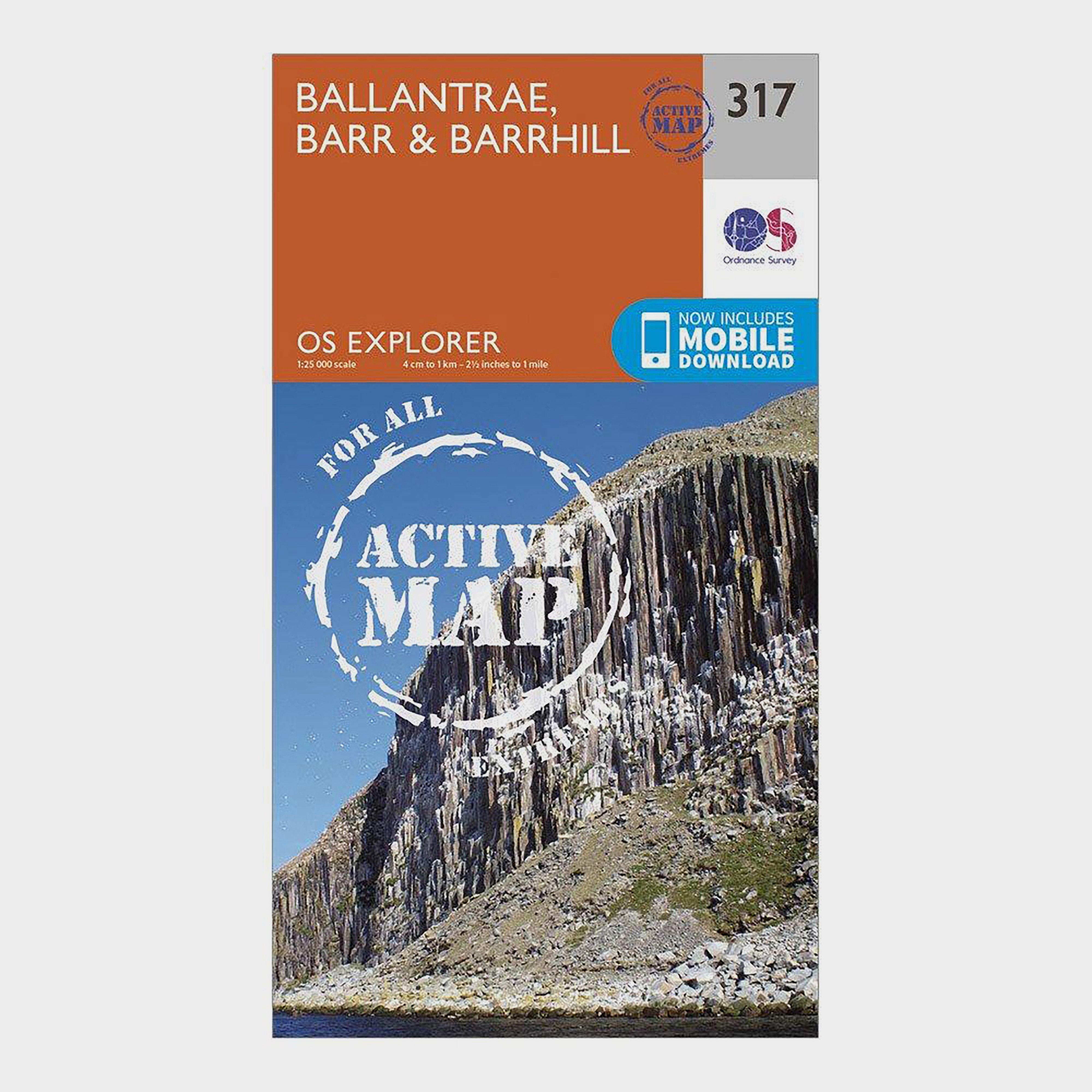 Ordnance Survey Explorer Active 317 Ballantrae  BarrandBarrhill Map With Digital Version - Orange/d  Orange/d