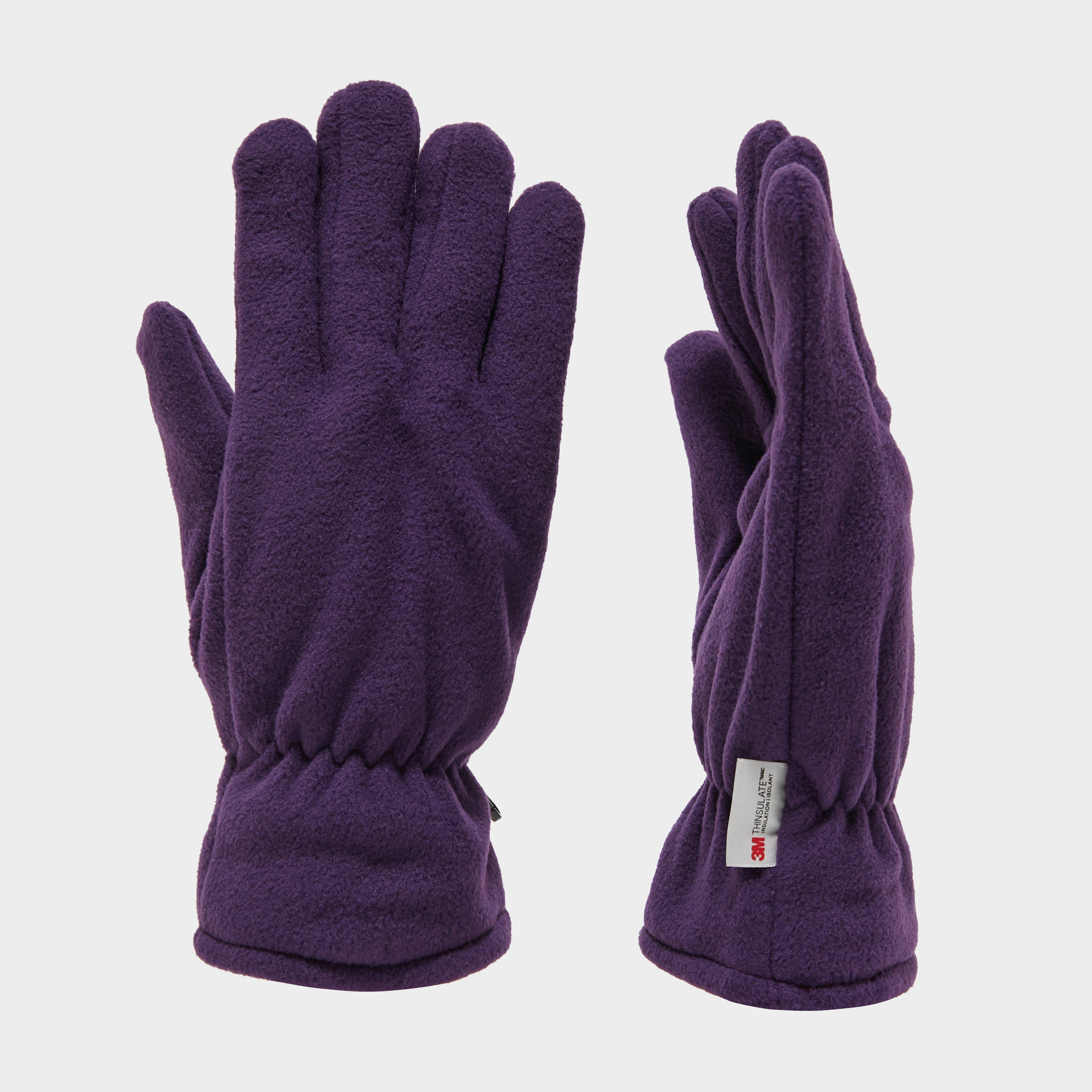 Peter Storm Unisex Thinsulate Fleece Gloves - Purple/purple  Purple/purple