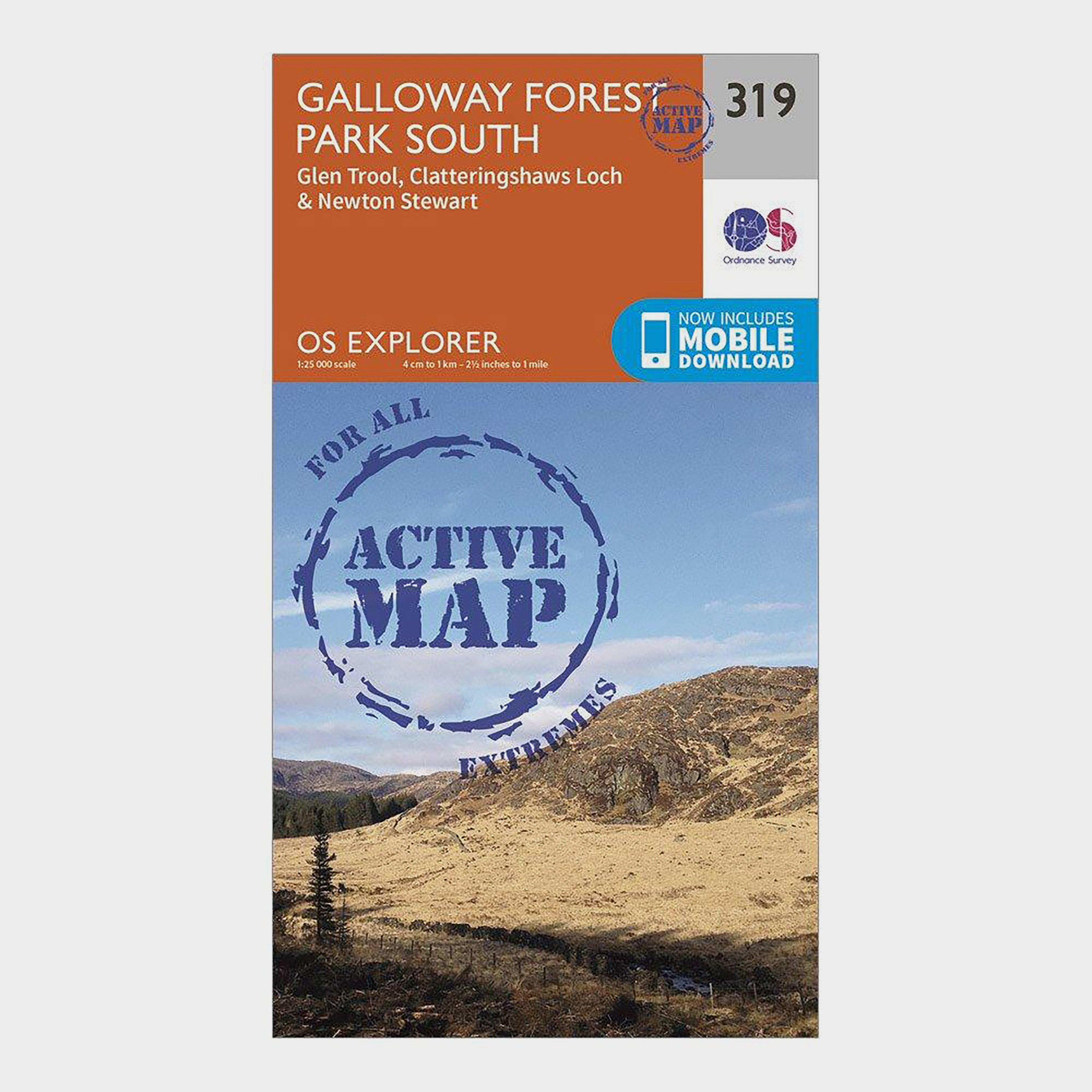Ordnance Survey Explorer Active 319 Galloway Forest Park South Map With Digital Version - Orange/d  Orange/d