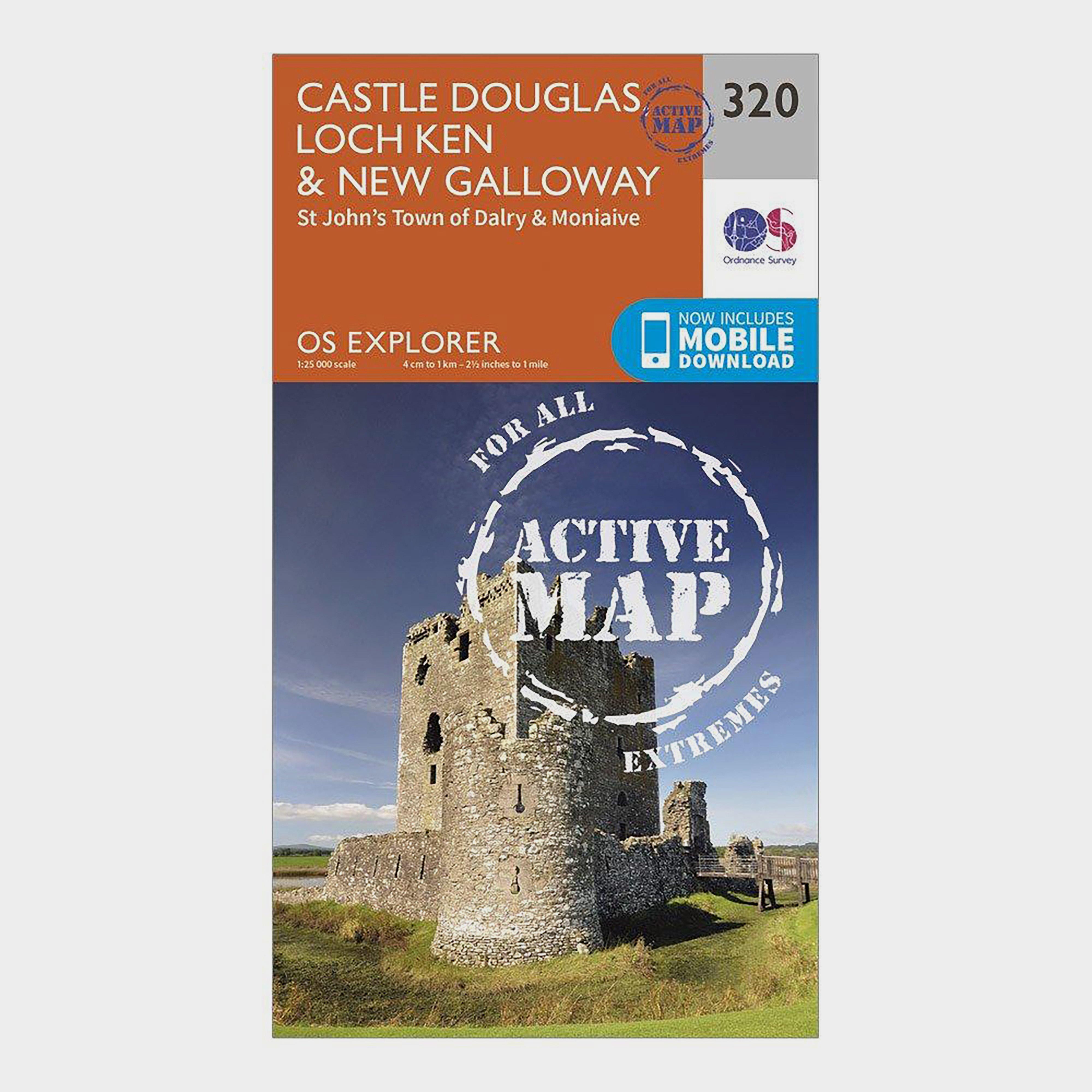 Ordnance Survey Explorer Active 320 Castle Douglas  Loch KenandNew Galloway Map With Digital Version - Orange/d  Orange/d