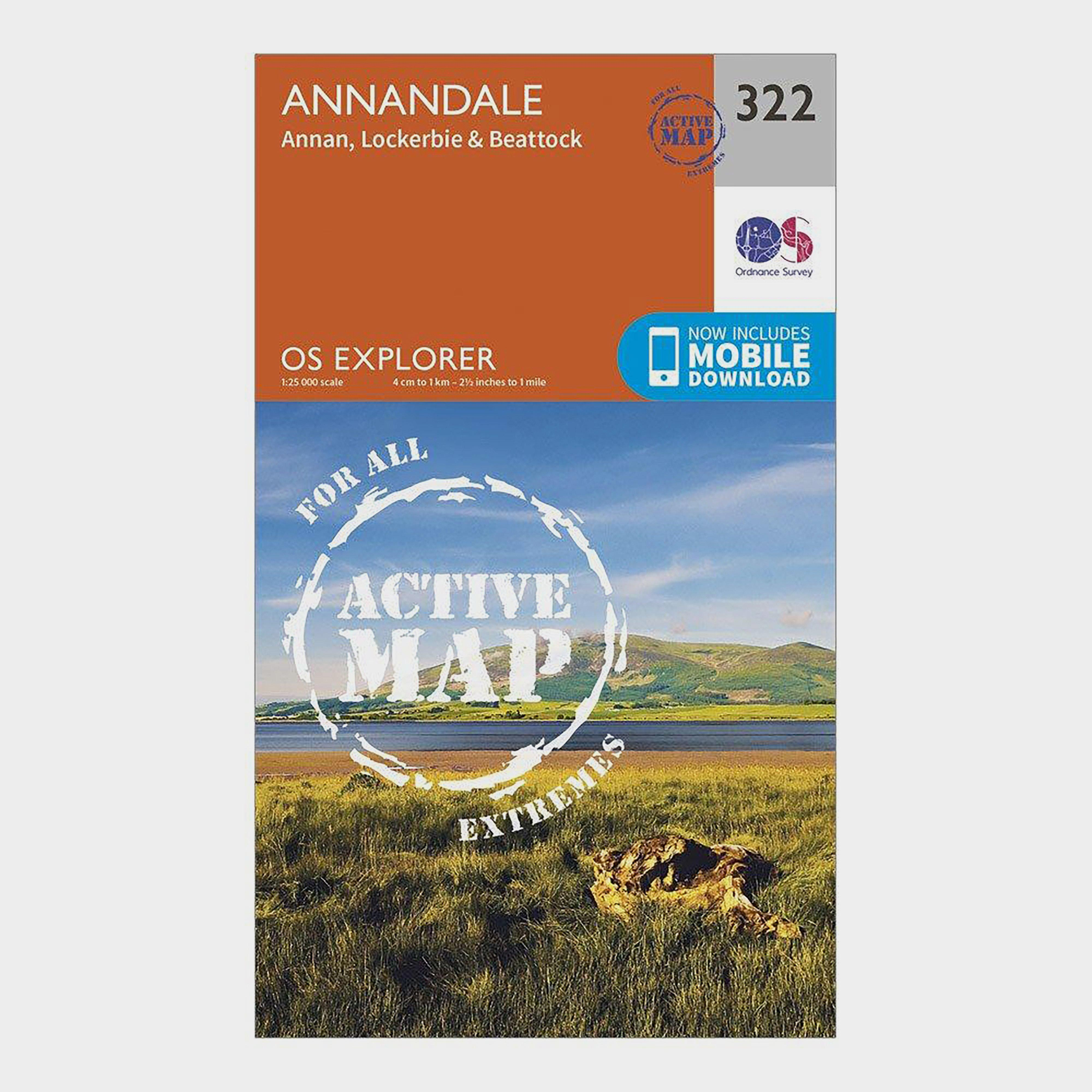 Ordnance Survey Explorer Active 322 Annandale Map With Digital Version - Orange/d  Orange/d