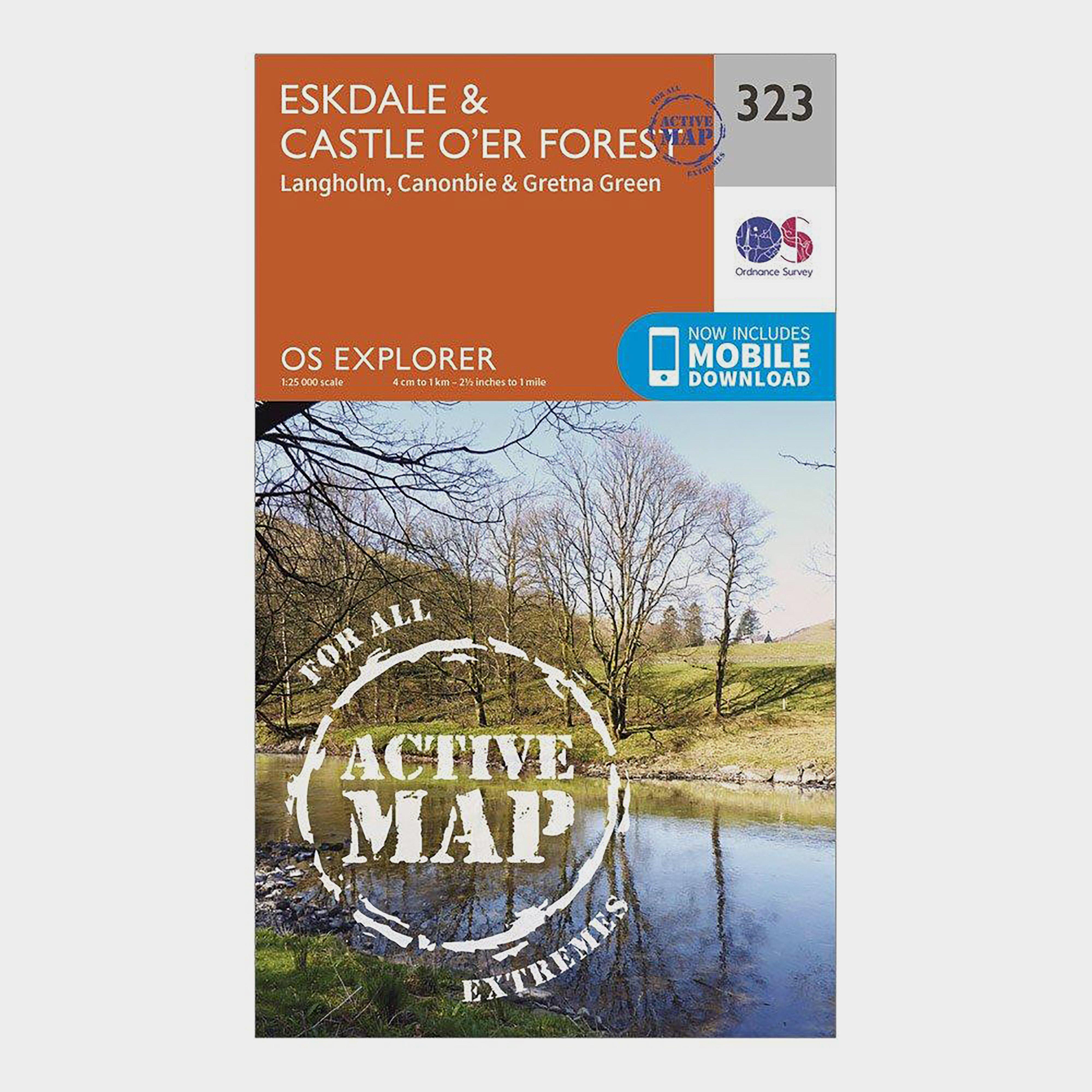 Ordnance Survey Explorer Active 323 EskdaleandCastle O Er Forest Map With Digital Version - D/d  D/d