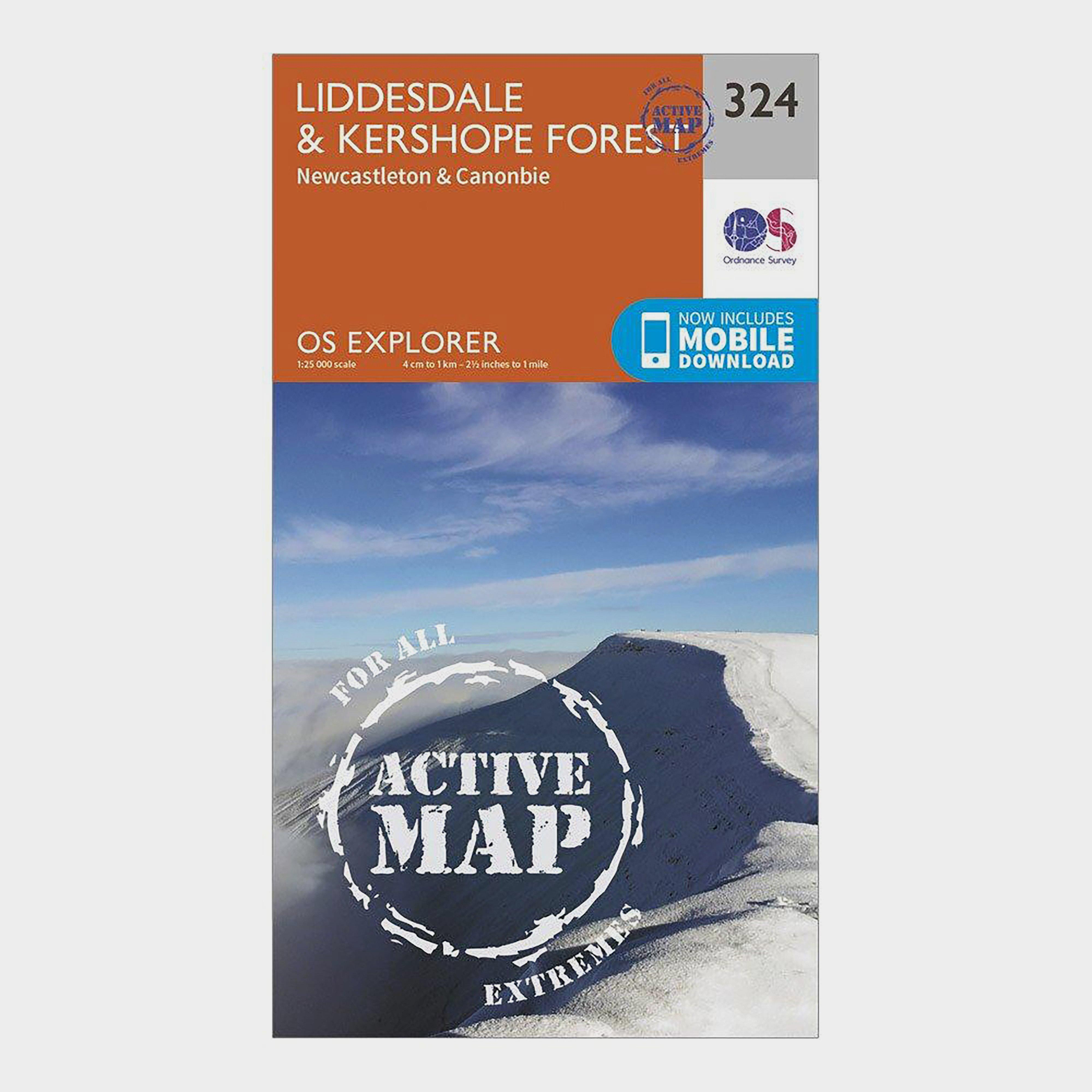 Ordnance Survey Explorer Active 324 LiddersdaleandKershope Forest Map With Digital Version - Orange/orange  Orange/orange